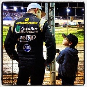 Jason Leffler and his son, (credit: instagram.com/jason_leffler)