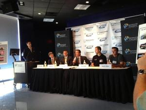 A press conference discussing the upcoming Nationwide race on August 17th (credit: Kristen Schneider)