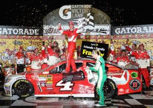 Kevin Harvick wins the 65th annual Southern 500 at Darlington Raceway (Credit: 297377NASCAR Via Getty Images)