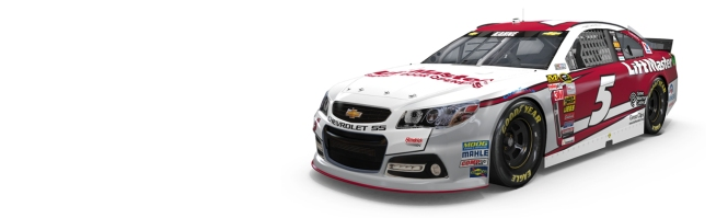 Lift Master will be a primary sponsor for the No. 5 three races each year, starting in 2015. (Credit: LiftMaster.com)