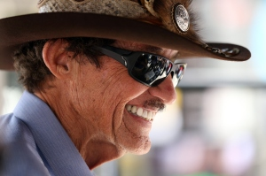DAYTONA BEACH, FL - JULY 03:  NASCAR Hall of Famer and team owner Richard Petty looks on during practice for the NASCAR Sprint Cup Series Coke Zero 400 at Daytona International Speedway on July 3, 2015 in Daytona Beach, Florida.  (Photo by Patrick Smith/Getty Images)
